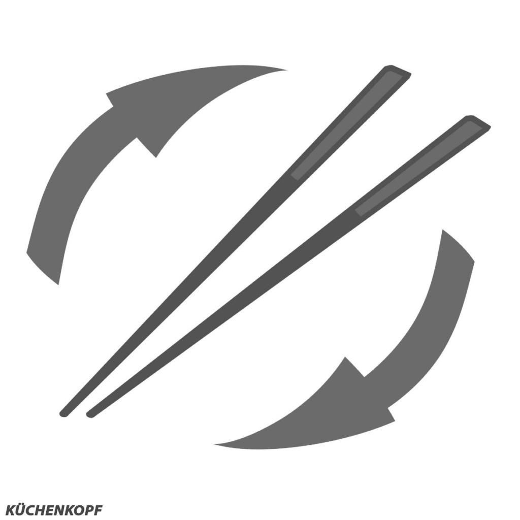 Essstäbchen-Test-Gewichtsverteilung