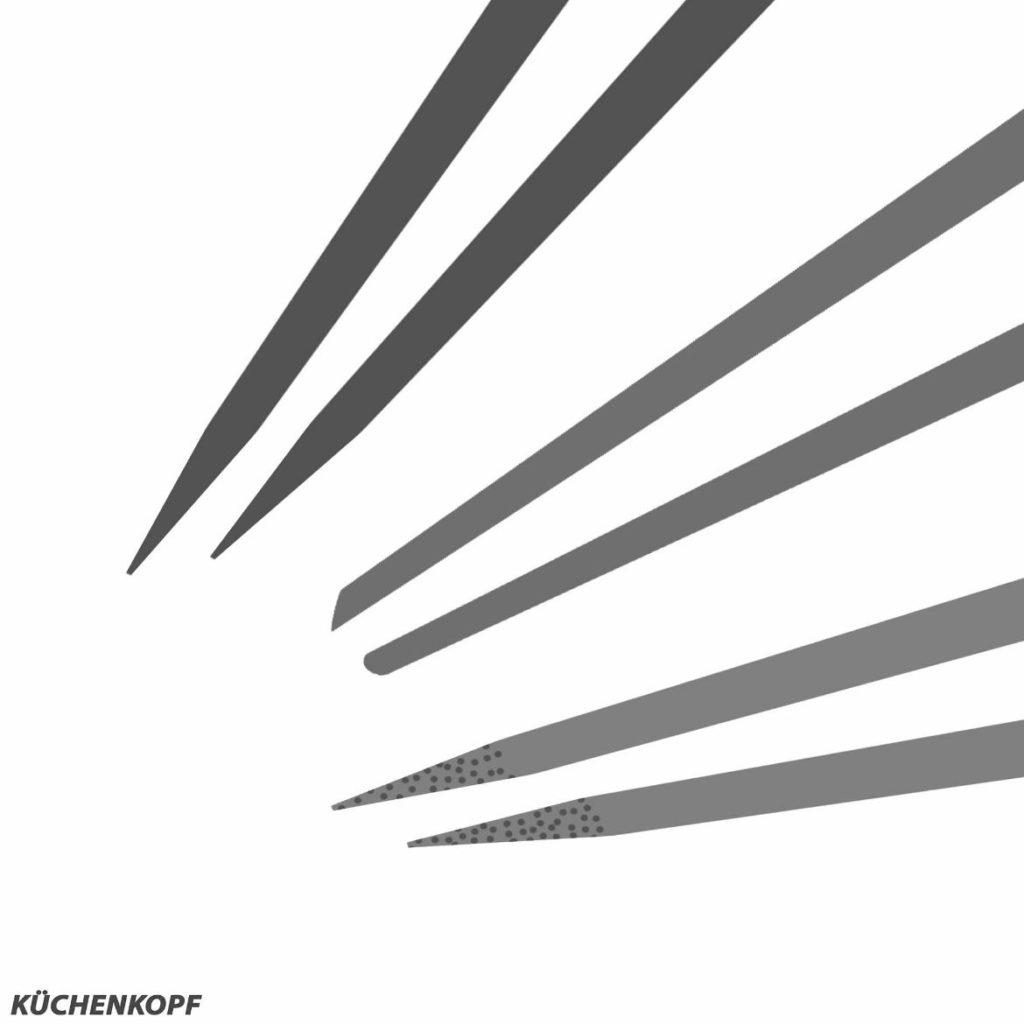 Essstäbchen-Test-Spitze