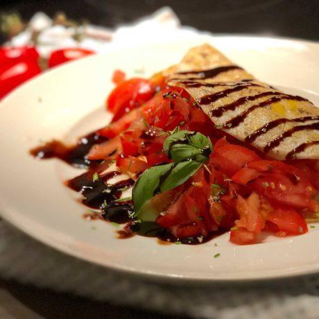 Omelett mit Tomate